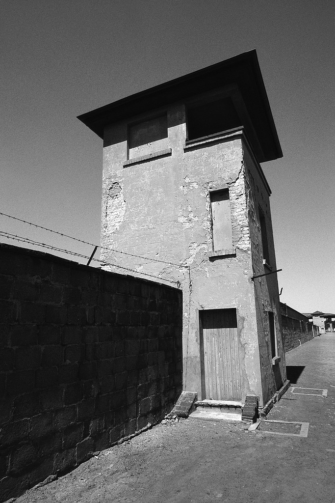 Watchtower of former concentration-camp